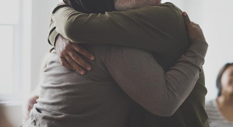 ASafePlace Sponsor SupportGroup ManWoman Hug